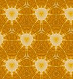 Abstract oranje naadloos patroon Stock Foto's