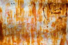 Abstract oranje roestig zink als textuur Stock Foto's