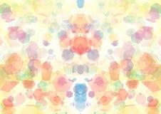Abstract oranje roze blauwgroen kleuren bokeh behang Stock Foto