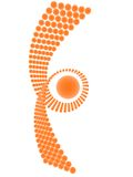 Abstract oranje symbool Stock Fotografie
