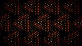 Abstract oranje zwart en groen shamming behang Royalty-vrije Stock Afbeelding