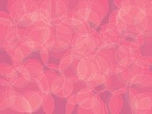 Abstract pink bubble background. Circle orb pink bokeh shades abstract background royalty free illustration