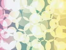 Abstract orb background. Circle orb vpink green yellow bokeh shades abstract background Stock Photos
