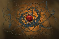 Abstract Orbs by shoop3D. Created in Vue 3D Software by shoop3D Royalty Free Stock Image