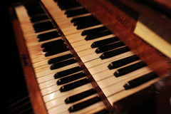 Abstract Organ Keys. With movement Blur Royalty Free Stock Images
