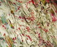 Abstract organic background, white red mud hues Stock Photos