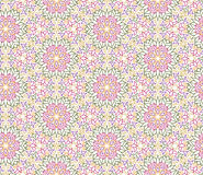 Abstract oriental floral seamless pattern. Arabic flower geometr. Abstract oriental floral seamless pattern. Flower geometric ornamental background. Floral Royalty Free Stock Photo