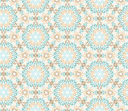 Abstract oriental floral seamless pattern. Arabic flower geometr. Abstract oriental floral seamless pattern. Flower geometric ornamental background. Floral vector illustration
