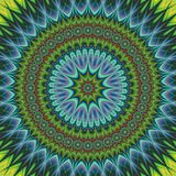 Abstract oriental fractal mandala background Stock Images