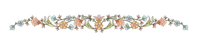 Abstract oriental plant leaves and flowers Framework decorated Elegant style royalty free illustration