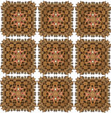 Abstract oriental seamless pattern. Brown abstract pattern resembling oriental rug Stock Photography