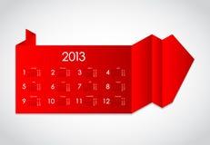 Abstract origami. With calendar 2013 Stock Photos
