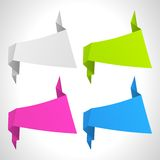 The  abstract origami background set Royalty Free Stock Images