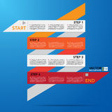 Abstract origami banner background. Royalty Free Stock Images