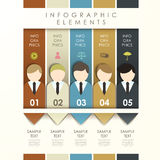 Abstract origami banner with businessman infographics Stock Photos