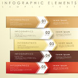 Abstract origami banner infographics. Modern vector abstract 3d origami banner infographic elements Stock Photography