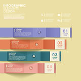 Abstract origami banner infographics. Modern vector abstract origami banner infographic elements vector illustration