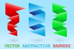 Abstract origami banner Royalty Free Stock Photography