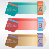 Abstract Origami Banners. Stock Images