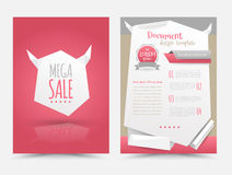 Abstract origami design vector template layout for magazine Royalty Free Stock Photo