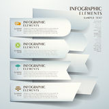 Abstract origami infographics. 3d vector abstract origami banner infographic elements Stock Photos