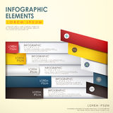 Abstract origami infographics Royalty Free Stock Photography