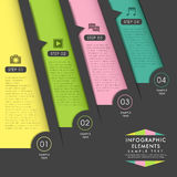 Abstract origami paper infographics Royalty Free Stock Photos