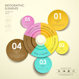 Abstract origami pie chart infographics Royalty Free Stock Image
