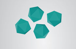 Abstract origami polygon  Stock Photography