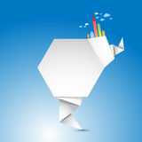 Abstract Origami Shape Stock Photo