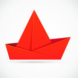 Abstract origami ship. Royalty Free Stock Photo