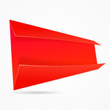 Abstract origami speech banner. Stock Photos
