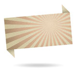 Abstract origami speech bubble from recycle paper Royalty Free Stock Photography
