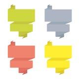 Abstract origami speech bubble Stock Photos