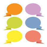 Abstract origami speech bubble Royalty Free Stock Images