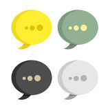 Abstract origami speech bubble Royalty Free Stock Photos