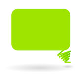 Abstract origami speech bubble vector background. This is file of EPS10 format Royalty Free Stock Photos