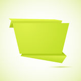 Abstract origami speech bubble vector background Royalty Free Stock Image
