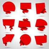 Abstract origami speech bubble vector background Stock Photos