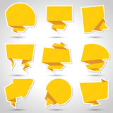 Abstract origami speech bubble vector background Stock Photography