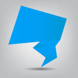 Abstract origami speech bubble vector background Royalty Free Stock Images