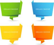 Abstract origami speech bubble Royalty Free Stock Photography