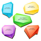 Abstract origami vector background Royalty Free Stock Image