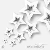 Abstract origami white paper stars background. Royalty Free Stock Photos