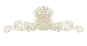 Abstract - ornament. Design element for design creation gold - ornament Royalty Free Stock Photos