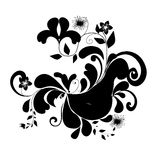 Abstract ornament. Illustration with floral design Royalty Free Stock Photos
