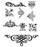 Abstract ornament. Collection of abstract design ornament Stock Illustration