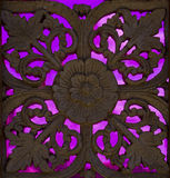 Abstract ornament. With pink glass Royalty Free Stock Images