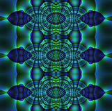 Abstract ornament blue purple green Stock Photo