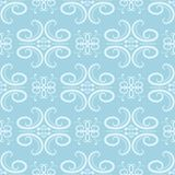 Abstract ornament. Blue and white seamless pattern. For fabric and wallpapers. Vector illustration stock illustration